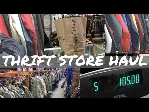 THRIFT STORE HAUL | L TRAIN VINTAGE NYC | SIGNED, A&J
