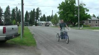 three wheel gas powered bike trike tricycle bicycle get a clock www.freecarshow.com