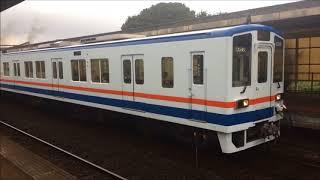 関東鉄道常総線キハ2308+キハ2307到着発車動画