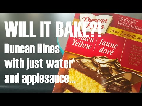 Duncan Hines Made Vegan With Applesauce And Water... WIL