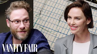 Seth Rogen and Charlize Theron Take a Lie Detector Test | Vanity Fair