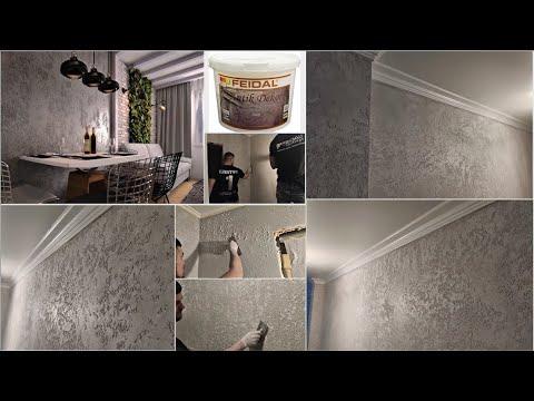 Фактура Grotto в интерьере, стиль ЛОФТ с материалами FEIDAL.