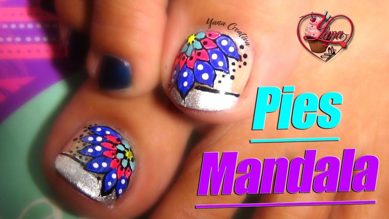 Decoraciones De Uñas Pies Mandala Yana Nail Art Youtube