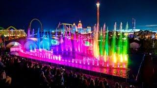 "Аква шоу "" Феникс "" в Сочи парке.Fountains. Aqua show ""Phoenix"" in Sochi Park. fountain Theater."