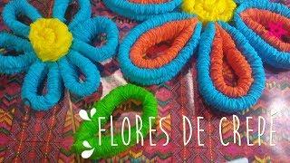 Tutorial Flores de Papel Crepé Corrugado.