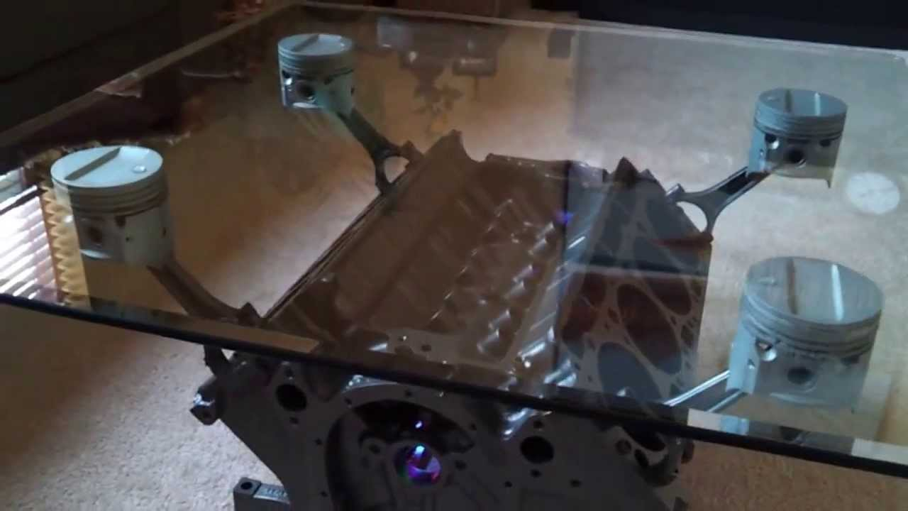 Engine Block Coffee Table 1959 Cadillac 390 cubic inch V8 YouTube