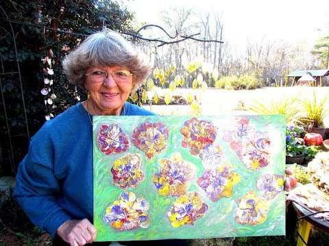 Fun Painting Flowers with pouring  your paint in Ga U.S.A.