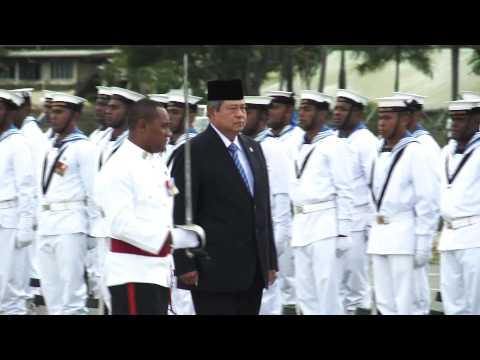 H.E the president of the Republic of Indonesia Sushilo Bambang Yudhoyono departure