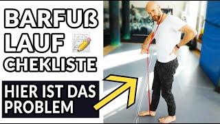 BARFUß LAUF 2 Punkte Checkliste - Barfußschuhe wirklich gesund? Wie richtig laufen?