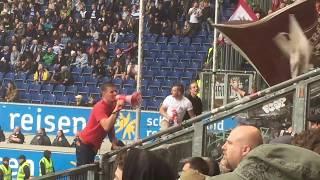 Duisburg - Fc.St.Pauli - ...wer wird Deutscher Meister ... HH ist braun weiss