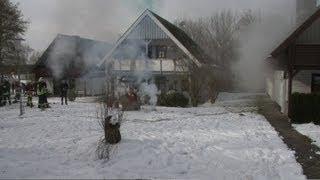 Übung: Meteoritenregen in Frielendorf am Silbersee - Katastrophenschutzübung 16.03.2013