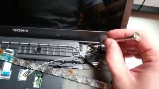 Sony Vaio F series disassembly / Screen replacement