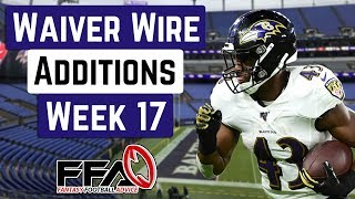 Top Waiver Wire Targets - Week 17 - 2019 Fantasy Football Advice