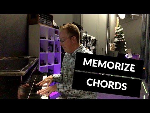 How to memorize chords for piano or guitar