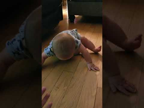 Warren tries to crawl