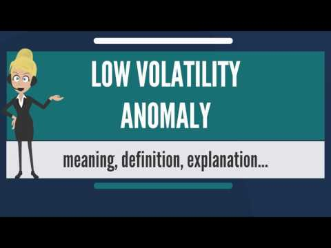 What Is LOW VOLATILITY ANOMALY? What Does LOW VOLATILITY ANOMALY Mean?
