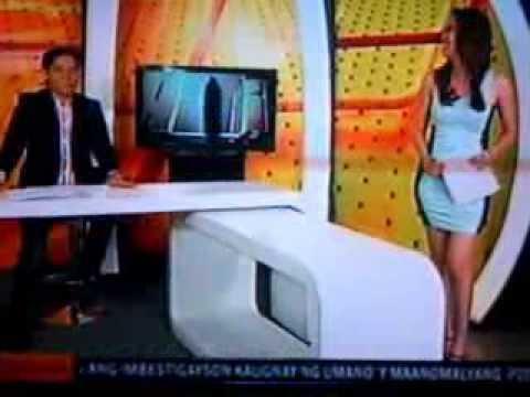 Tina Marasigan sexy reporter @ Studio 23