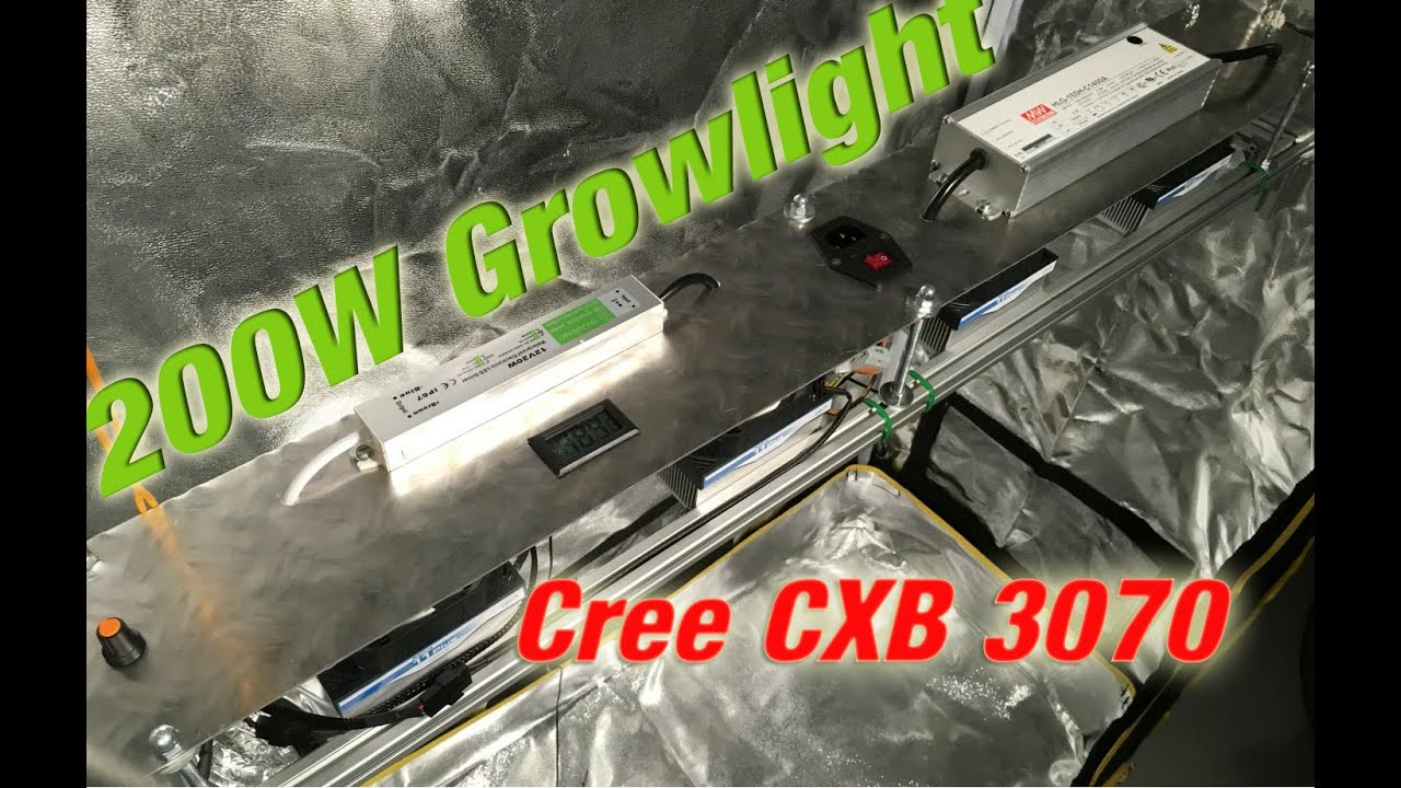 DIY Cree LED Grow Light 100-200W CXB3070 //with fan ...