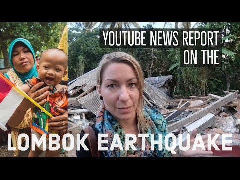 Lombok Earthquake relief - GoPro News Reporter