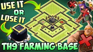Town Hall 9 (TH9) Dark Elixir Farming Base - 2018 | DE Protection | With 4 Replays | Clash Of Clans