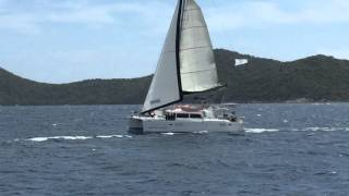Lagoon 440 Catamaran Race in the BVI!