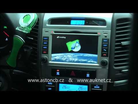 Montáž navigace do Hyundai Santa Fe model TID-8908, LCD opěrek, parkovací kamera