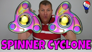 Hand Fidget Spinner Cyclone Rainbow EDC Toupie Test Review Francais ThinkUnBoxing
