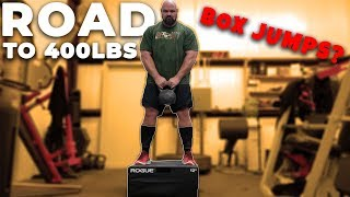 400+ POUND MAN DOES BOX JUMPS?  WEIGHT LOSS JOURNEY ROAD TO 400 POUNDS