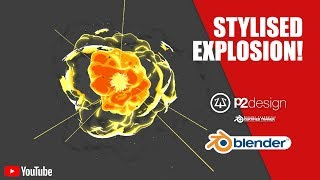 P2DESIGN   create a stylised explosion in Blender   Full tutorial