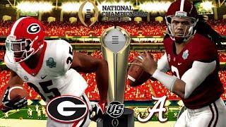 2018 🏈  CFP NATIONAL CHAMPIONSHIP GAME🏆 !!! GEORGIA vs. ALABAMA NCAA Football 14 Gameplay!!!