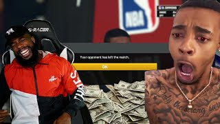 I MADE FLIGHT RAGE QUIT AFTER WAGERING $1,000 ON MYTEAM GAME! NBA 2K20