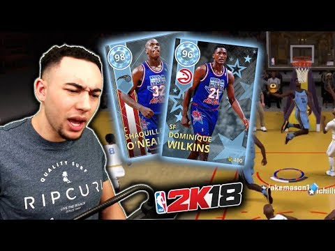 ALL-STAR WEEKEND DOMINIQUE WILKINS + SHAQ GAMEPLAY! GOD SQUAD OVERHAUL! NBA 2K18 MyTeam