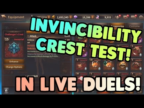 Testing Invincibility / Challenger's Crest in Live Duels! Lena PVP | HIT Heroes of Incredible Tales