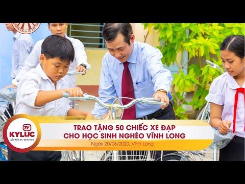 KyLuc.tv| VietKings và Quỹ Tình thương Việt trao tặng 50 chiếc xe đạp đến học sinh nghèo Vĩnh Long