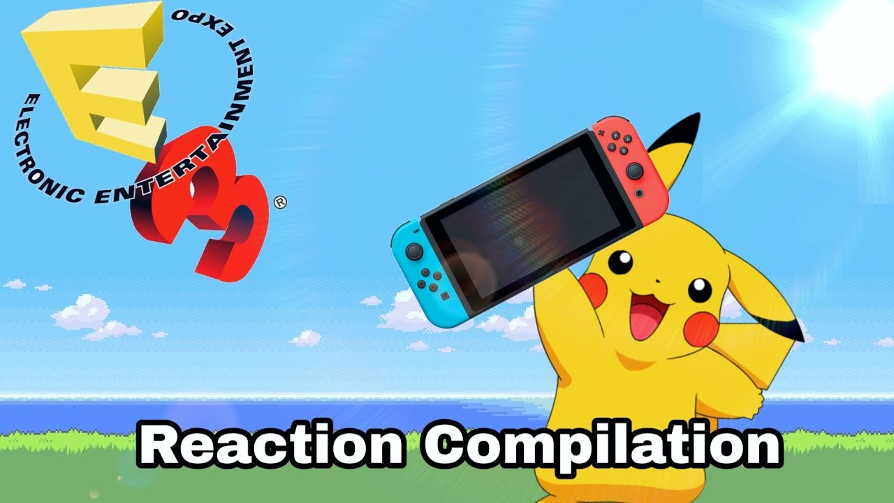 Nintendo Switch Pokemon announcement - Nintendo E3 2017 - Reaction Compilation
