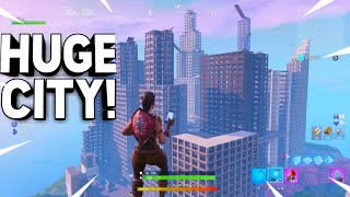 I Built a *HUGE* City in Fortnite! (WITH CODE!!)