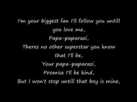 Paparazi  w/Lyrics