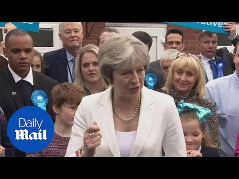 Theresa May visits Dudley whose council gained six Tory seats - Daily Mail