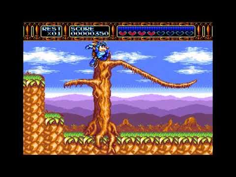 Rocket Knight Adventures (Genesis)- Gameplay |