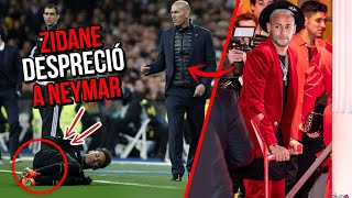 El día que Zidane DESPRECIÓ a Neymar por horrible razón