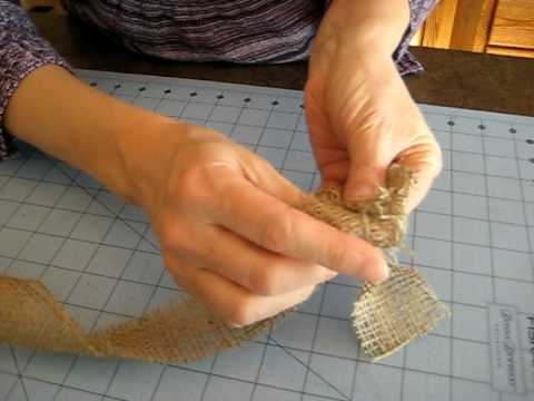 How to fold a burlap rose with youtube for How to make hessian flowers