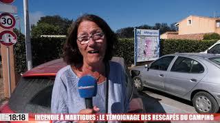 Martigues : le témoignage des rescapés du camping des Tamaris entièrement ravagé par les flammes