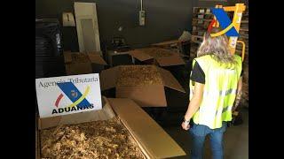 Agencia Tributaria aprehende 5.400 kilos de tabaco de contrabando