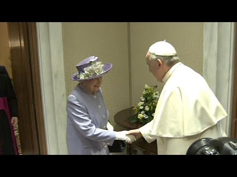 Queen Elizabeth meets Pope Francis at the Vatican