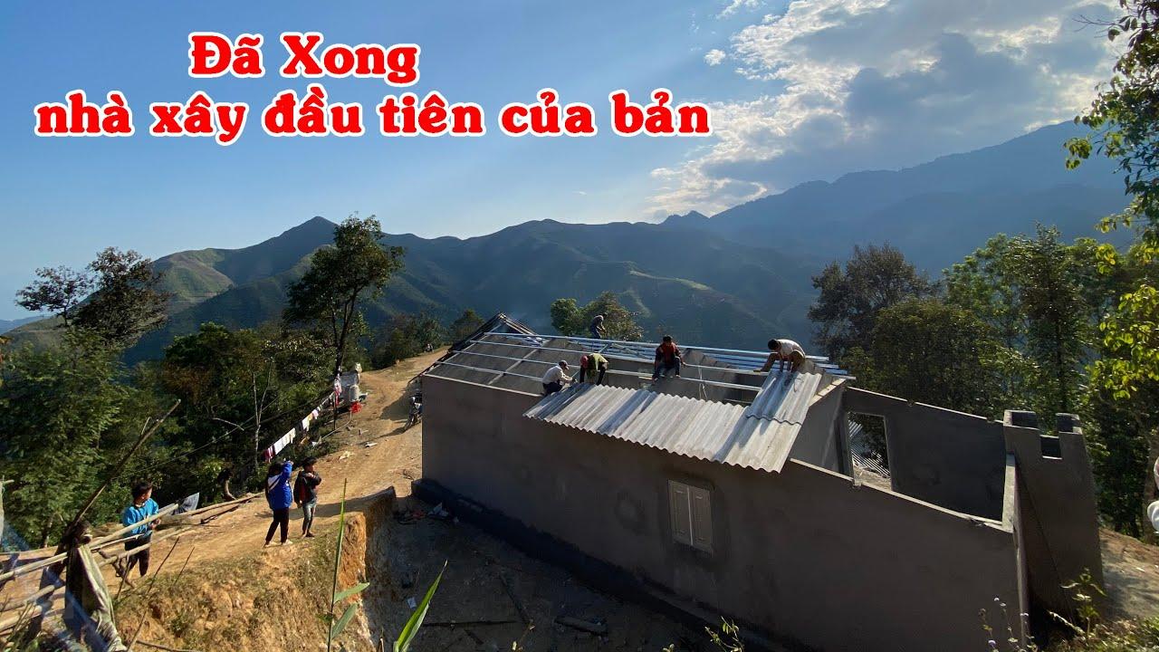 Lắp cửa lợp mái - Đã xong nhà đẹp cho A Chú   Làm nhà A Chú bệnh thận ( T 8 )