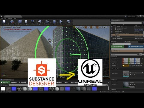 Substance designer and UE4 instance material tutorial