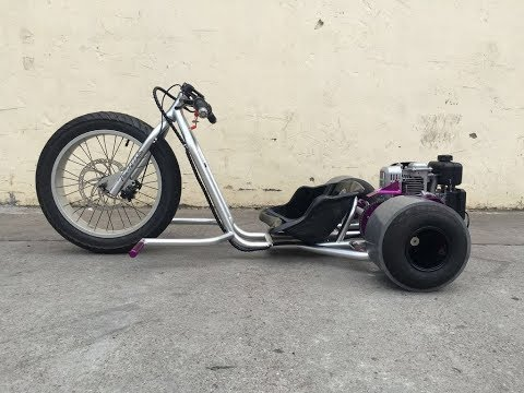 Budget Gas Powered Drift Trike Build - Pt.1- Using Scrap Motorcycle Parts?