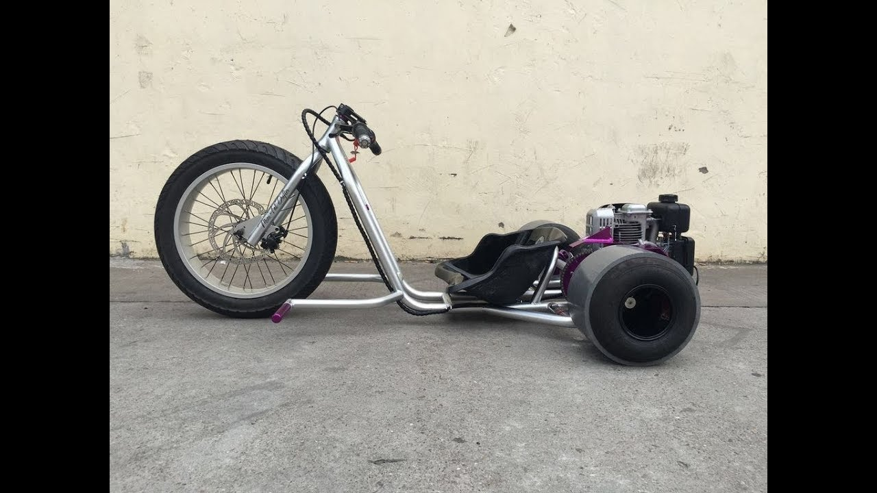 Budget Gas Powered Drift Trike Build - Pt 1- Using Scrap Motorcycle Parts?