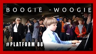Boogie-Woogie at the  London Underground Station. Plays Oliv...