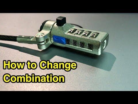 How to change combination on Kensington laptop locks.